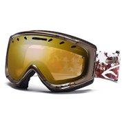 Маска сноубордическая Smith Phase cо стеклами Gold sensor mirror